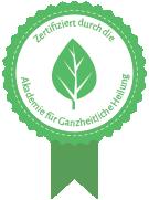 Zertifiziert durch die Akademie für Ganzheitliche Heilung